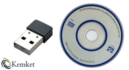 Picture of Kemket Wifi Adapter Proster Wireless USB Network Adapter Supports 802.11 b/g/n Standard Maximum Speed up to 2.4GHz 150Mbps for Windows 8.1/8/7/XP 32/64bit (2.4GHz 150 Mbps)