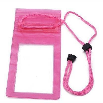 Picture of Waterproof Case - Universal Durable Underwater Dry Bag, Touch Responsive Transparent Windows, Watertight Sealed System - Light Pink