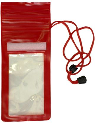 Picture of Waterproof Case - Universal Durable Underwater Dry Bag, Touch Responsive Transparent Windows, Watertight Sealed System - Red