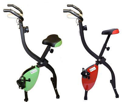 Picture of Exercise Bike X-Bike Folding Magnetic Home Cardio Fitness Machine-Green