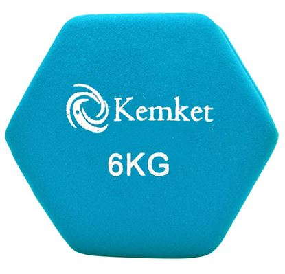 Picture of Kemket Neoprene Hand Dumbbells Weights Pair Fitness Home Gym Exercise Barbell 6KG Home Gym Fitness Exercise workout training 6Kg