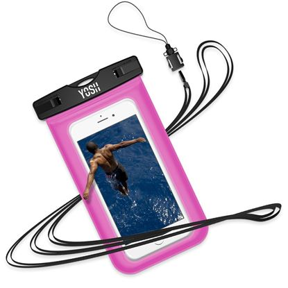 """Picture of Waterproof Phone Case YOSH [Lifetime Warranty] IPX8 Watertight Sealed Underwater Waterproof Phone Pouch Dry Bag with Lanyard for iPhone X 6s 6 Plus Samsung S9 S8 S7 J3 Huawei Moto G6 Nokia LG up to 6"""""""