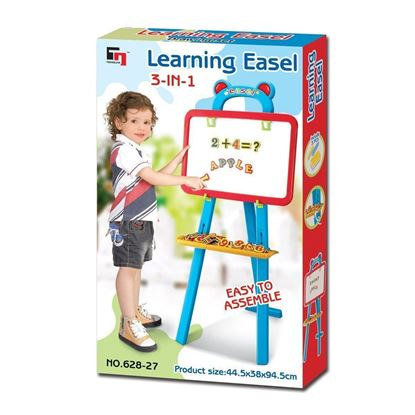 Picture of Kids Learning Easel - 3 in 1 Learning Drawing Set
