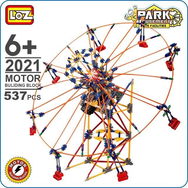 LOZ Electric Motor Blocks Extra Large Amusement Park Model DIY Toy For Boy  Friend Enlighten City Little Creation Big Future 2021