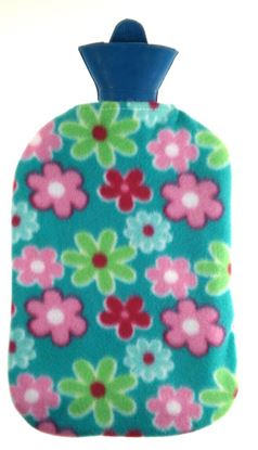 Picture of Hot water bag with fleece 2L GREEN FLOWER