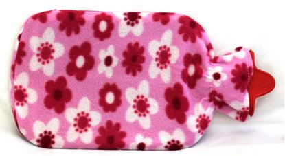 Picture of Hot water Bag with fleece 2L FLOWER PINK