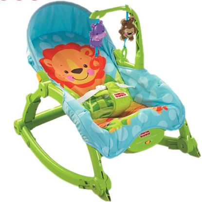 Picture of Baby Unisex BLOOMA  Musical Rocker Bouncer Chair Infant to Toddler Vibration Blue