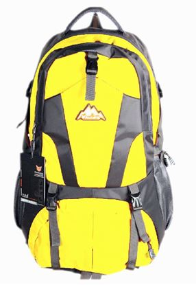 Picture of Men Travel Bags Waterproof Resin Mesh System Outdoor Camping Travel Hiking Backpacks Bag Yellow