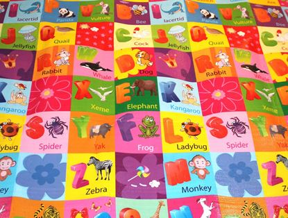 Picture of Play Mat Double-side High Quality Baby Crawl Mat Size : 150x180 cm  ALPHABET(A-Z) AND ANIMAL NAME