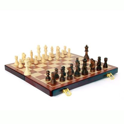 Picture of Zoocen Wood Family Chess Set