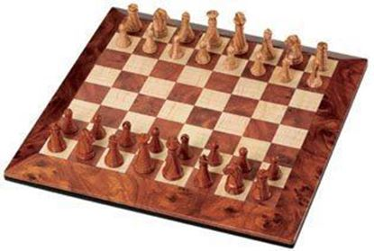 Picture of MAGNETIC PLASTIC CHESS WOOD PATTERN SMALL
