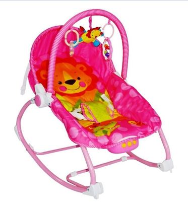 Picture of Baby Unisex BLOOMA  Musical Rocker Bouncer Chair Infant to Toddler Vibration Pink