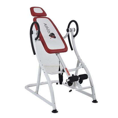 Picture of Kemket Inversion Table with Adjustable Headrest - Back Hang Ups - Max Load 150kg - 180 Max Inversion - Steel Frame - Prevents Back Pain and Muscle Tension - Increases Blood Circulation White