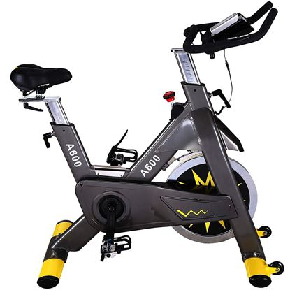 Picture of Kemket A600 Indoor Cycling Exercise Commercial Heavy Frame standards Spin Bike,Direct Belt Driven 20kg Flywheel, 3-Piece Crank,7-Function Monitor,Heart Rate Sensors 1 YEAR WARRANTY