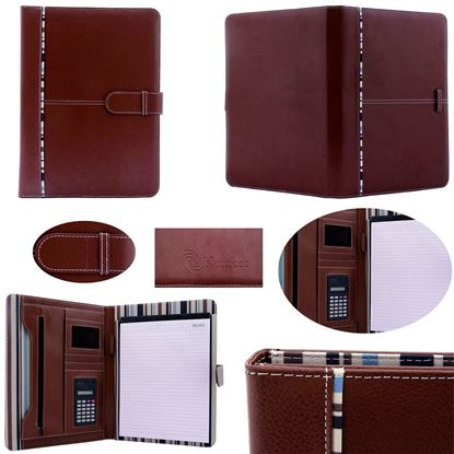 Picture of Kemket Notebook file folder/ Daily Notebook / Presentation Folder / Personal Notebook Case / Organiser with Notepad Conference / Notepad with Business Card / Ruled Notebook / Personal Secret Diary Blank Paper Travel Daily Life Writing