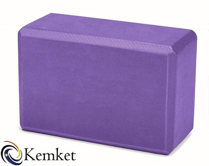 Picture of Kemket Yoga Block Brick Foaming Foam Block Home Exercise Pilates Tool Stretching Aid PURPLE