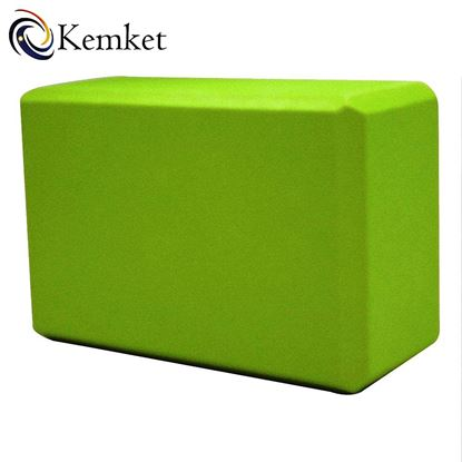 Picture of Kemket Yoga Block Brick Foaming Foam Block Home Exercise Pilates Tool Stretching Aid GREEN